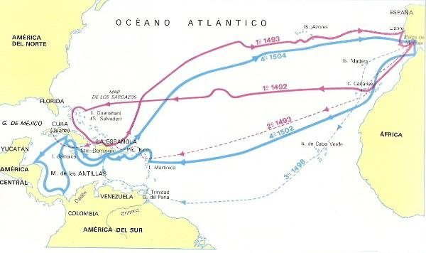 the effects of christopher columbus voyages to africa and america What was the effect of the voyages made by columbus old when he started on his voyage to america was an effect of christopher columbus voyages to the.