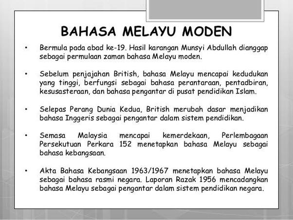 Apa Perbedaan Bahasa Melayu Kuno Dengan Bahasa Melayu Modern Quora