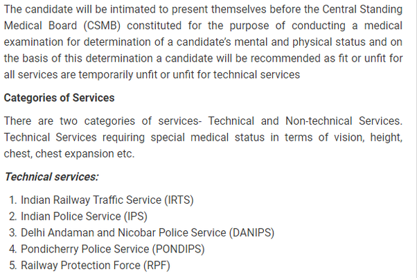 What's the medical fitness test of UPSC civil services like? - Quora