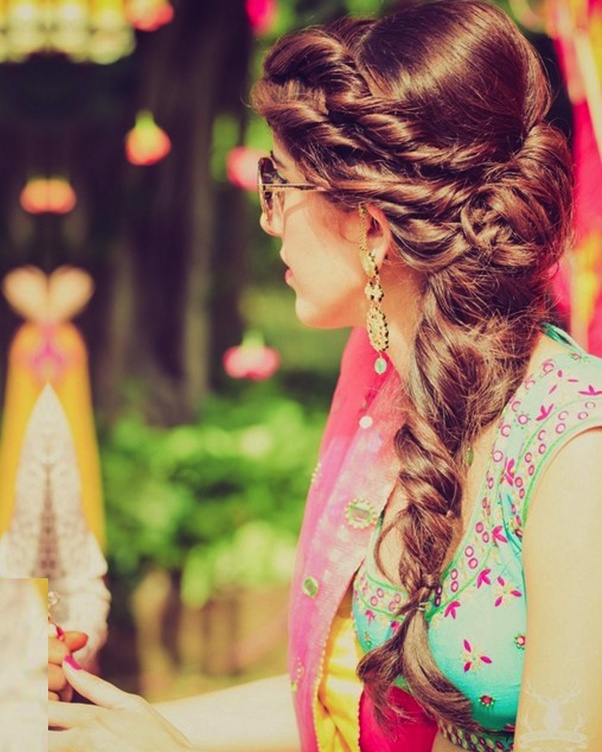 What Is The Best Hairstyle While Wearing A Ghagra Dress Quora