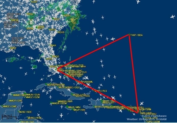 Is it true that airplanes cannot fly over the Bermuda triangle? Why ...