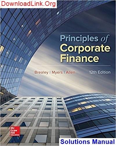 Corporate finance edition fundamentals of ebook 10th