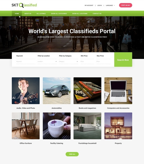 Which theme should I use for a classified website which I can easily ...
