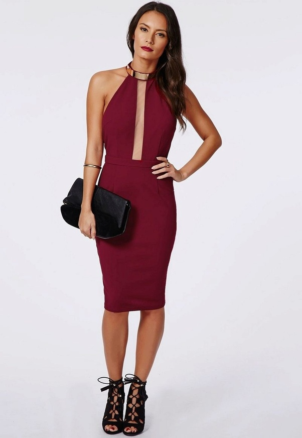 What color shoes to wear with wine colored dress