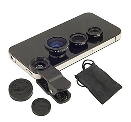 drumstone universal 3 in 1 cell phone camera lens kit
