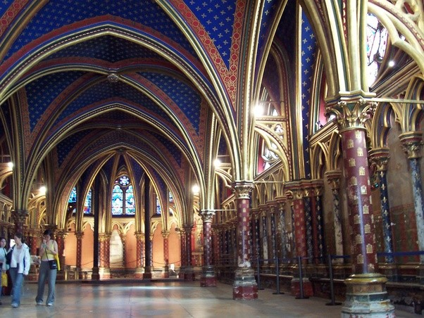 Or My Favorite The Heavily Restored Interior Of Ste Chapelle In Paris Which Dates From 13th Century