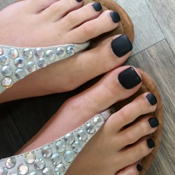 What Color Toenail Polish Should I Wear With A Black