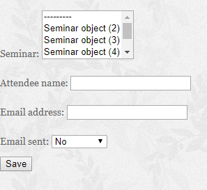How to save the Django ModelForm ForeignKey type field in the