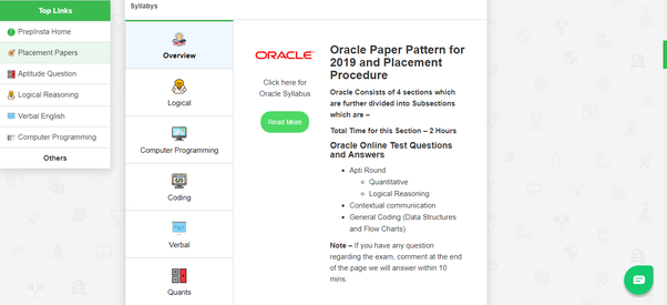 What kind of questions does the Oracle application