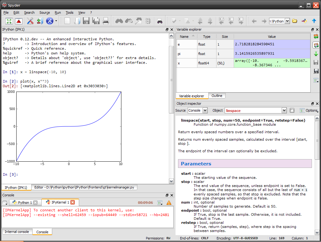 What is the best Python IDE for doing data analysis/science and ML