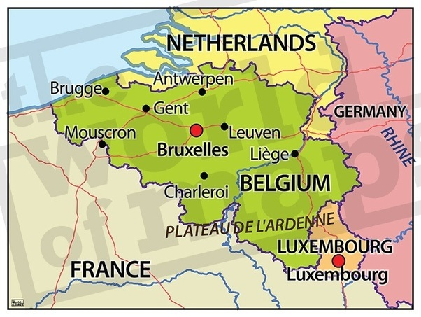 20th century belgium and its neighboring countries
