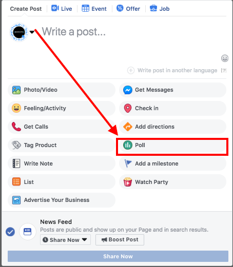 How to create a poll on a Facebook fan page with multiple options - Quora