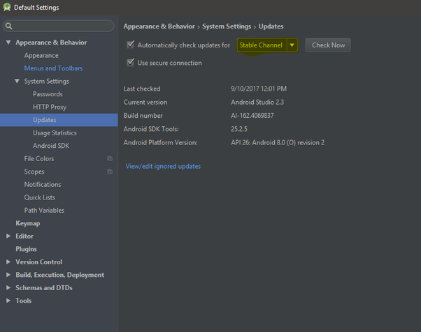 android sdk version 26 download