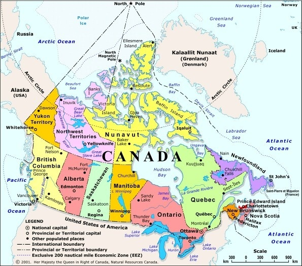 North America In what ways are Canadian provinces similar to