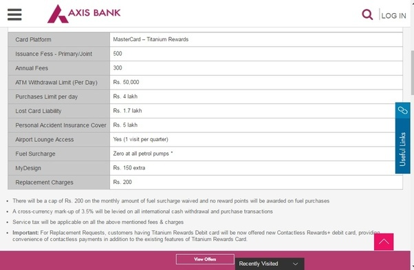 here is a screenshot of the charges from their official website - Debit Card Rewards
