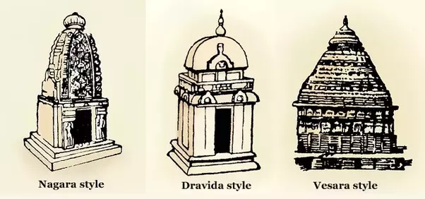 what are the different temple architectural styles found in india
