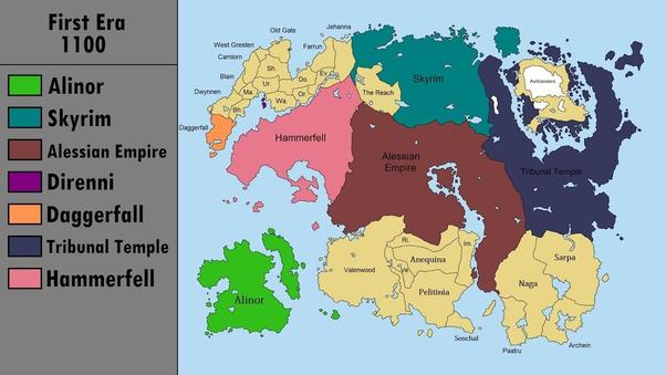 Daggerfall Map on