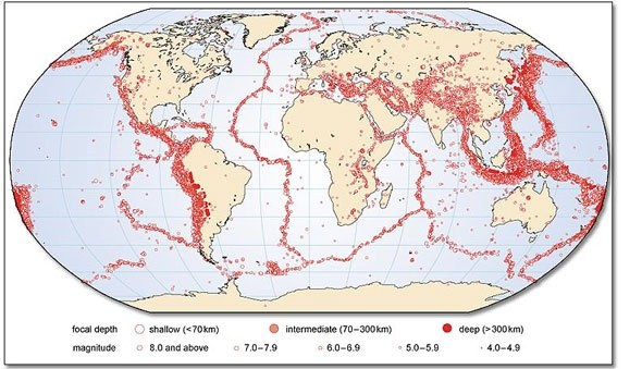 How are earthquake distributions mapped quora seismograph stations around the world the locations of most earthquakes can be determined relatively quickly and then when these are plotted on a map gumiabroncs Image collections