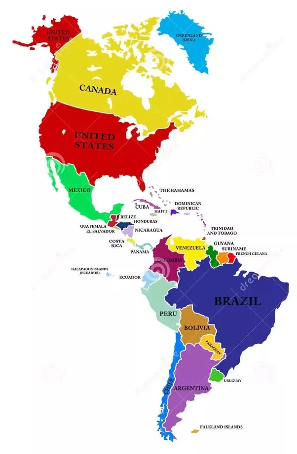 What Is The Difference Between The USA And America Quora - Map of usa and south america