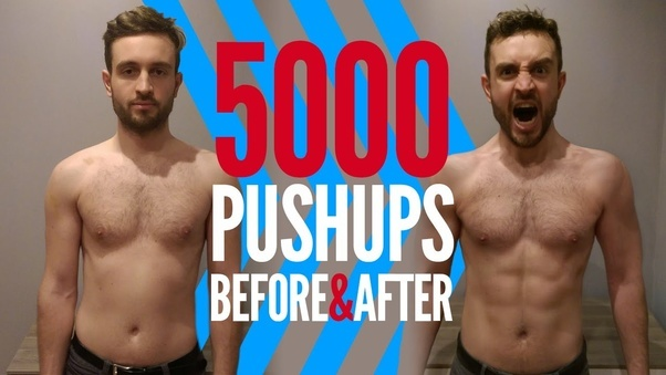 will pushups every day and being in a caloric deficit
