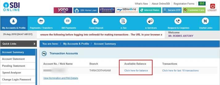 register mobile banking sbi