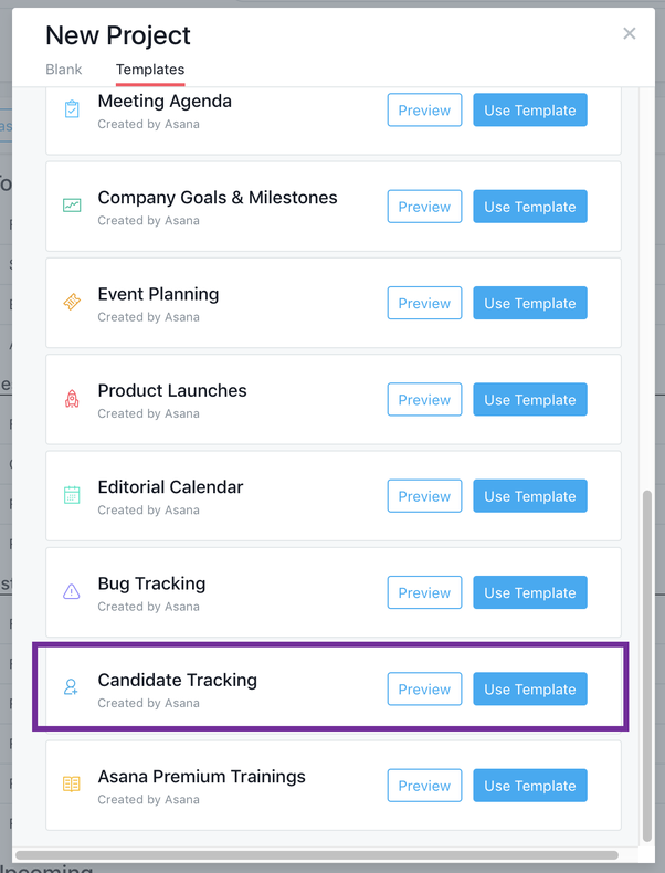 how does asana track recruiting candidates quora