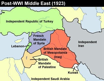 After World War I, who received control of Palestine and ...