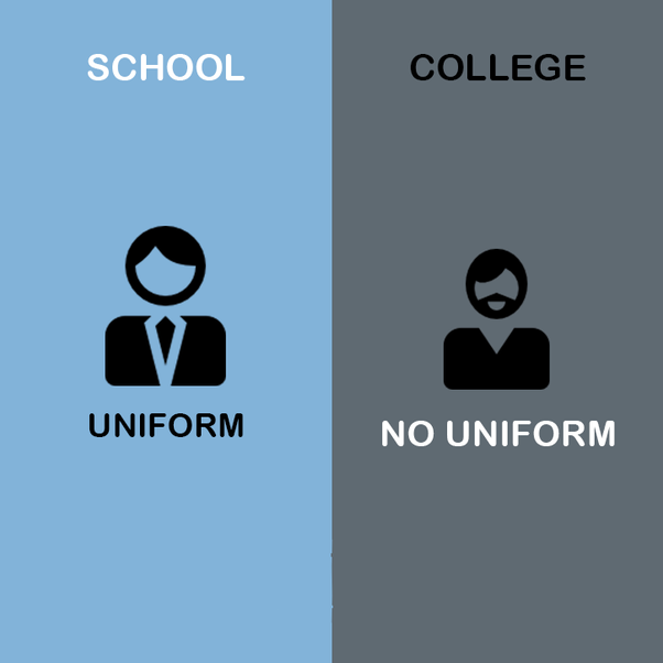 difference between college life and school life