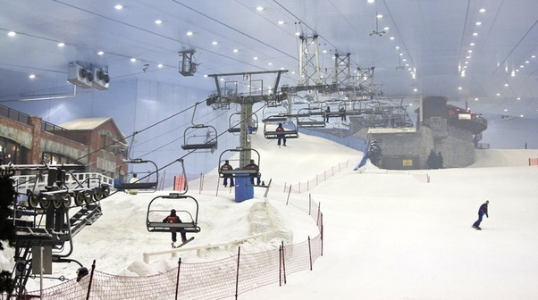 The Beautiful Dubai Has Its Own Snow Skiing Centre Located In New Mall