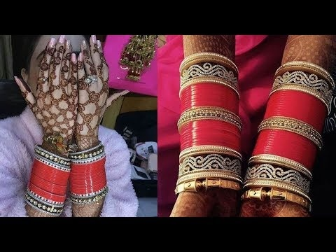 What is the logic behind wearing a red bangle set for newly
