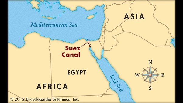 Which two countries are connected by the Suez c? - Quora on