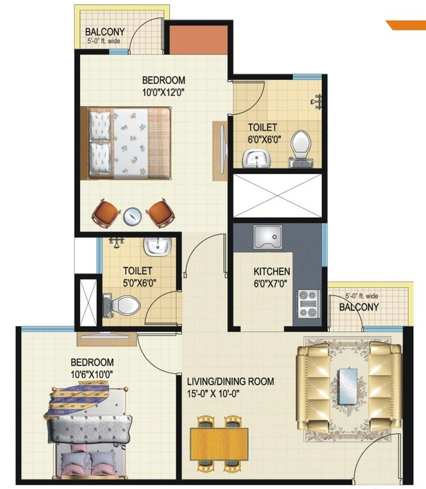 What Is The Perfect Size For A 2 Bedroom Apartment Quora
