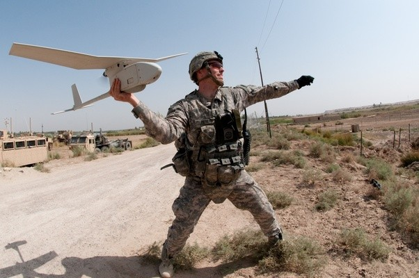 In The US Army Team Commercial Do They Really Have That Handheld Small Helicopter Camera Drone
