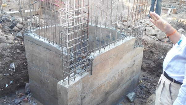 Rcc Lift In Wall : What s the difference between foundation and footing quora