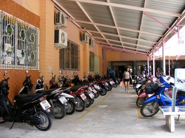 Motorcycle Parking Space : In countries dominated by motorcycles what do