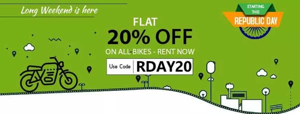 How to get a bike on rent on monthly basis (2-3 months) in Bangalore