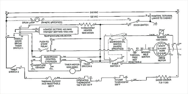 How To Convert An Electric Dryer Gas, Wiring Diagram For Kenmore Gas Dryer Model 110