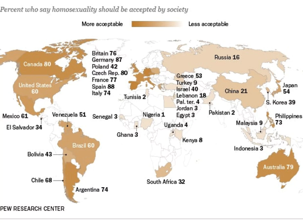 Most tolerant place to be gay