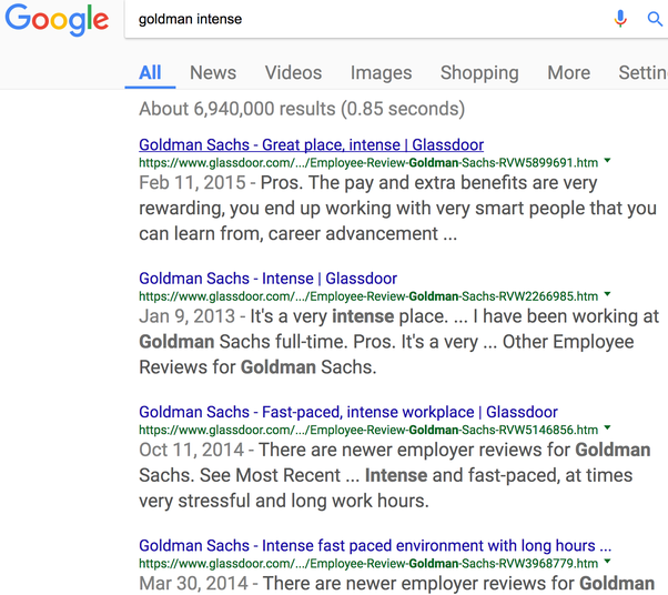 Do Employees At Goldman Sachs Have A Good Work Life Balance Does