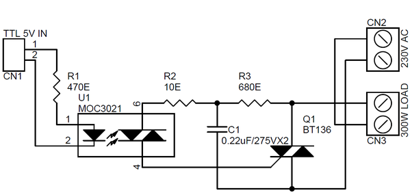 can a transistor work as a switch for high ac voltage  220