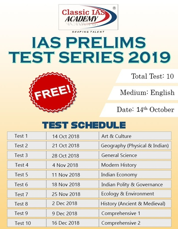 which is the best upsc prelims test series that i can take for 2018