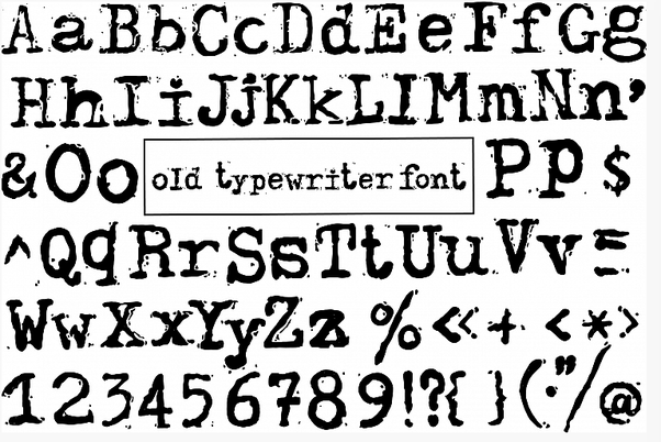 Typewriter Font On Word Mac Download typewriter fonts for