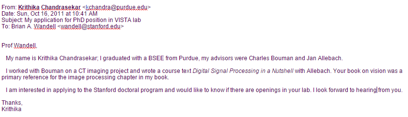 Doing This Will Help A Long Way In Impressing Prospective Advisor Good Luck And I Hope Helps
