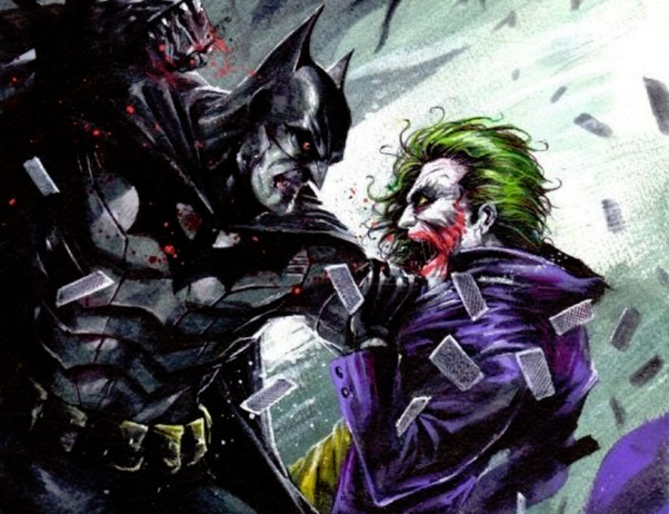 pictures of batman and joker fighting imaganationfaceorg