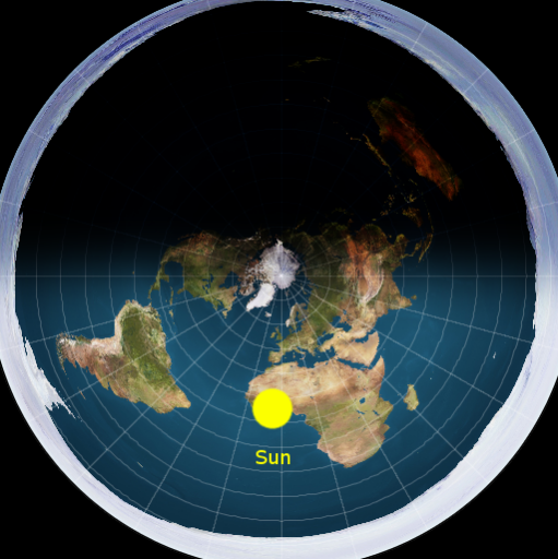 How does the sun move in the flat earth model quora they say that the suns light only goes so far night is when the sun is on the opposite side of the flat earth like this gumiabroncs Image collections