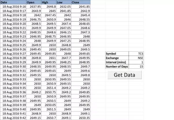 is there any way to fetch real time stock data in excel quora