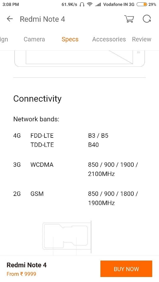 How to enable Vodafone 4G on the Redmi Note 4 if I am getting 3G