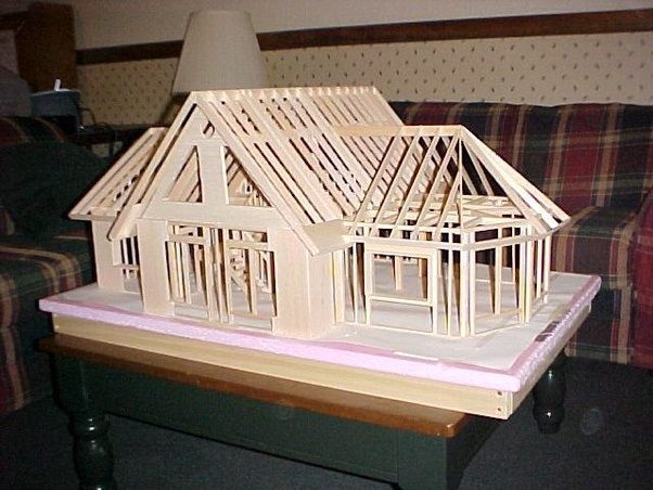 How to make balsa wood house model balsa factory quora for Model house building materials