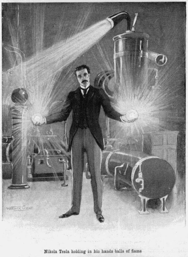 Why Is Nikola Teslas Picture Holding A Light Bulb Considered