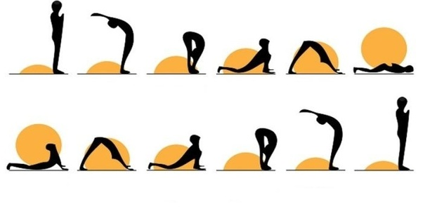 Surya namaskara positions for sexual health